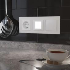 Заглушка для поста с подсветкой, без рамки Werkel белый W1154301